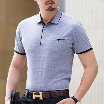 Camisa Polo Formal de estilo de negocios de 95% Viscosa de marca de verano de Thoshine para hombre