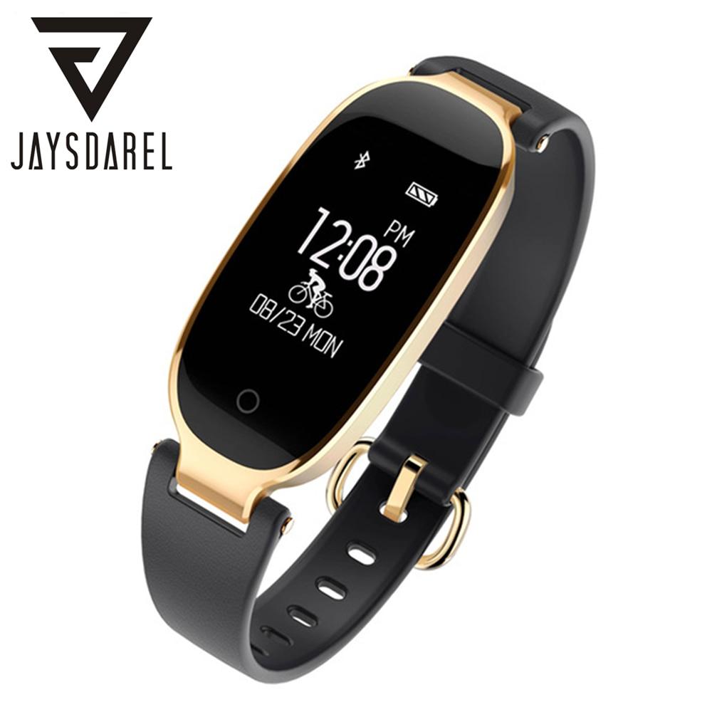 JAYSDAREL S3 Ladies Elegant Smart Watch Heart Rate Monitor Bracelet IP67 Waterproof Bluetooth Fitness Tracker For Android IOS