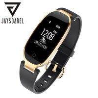 JAYSDAREL S3 Ladies Elegant Smart Watch Heart Rate Monitor Bracelet IP67 Waterproof Bluetooth Fitness Tracker For