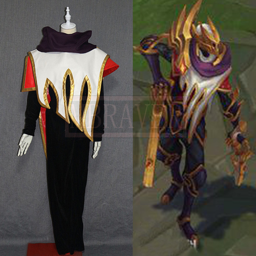 Game LOL New Hero Khada Jhin SKT T1 Comic Con Party Halloween Christmas Cosplay Costume Custom Made Any Size