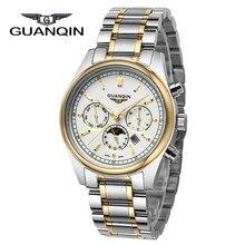 Новый GUANQIN Часы мужские Часы Мужчины Бизнес Мужские Часы Лучший Бренд Класса Люкс Кварцевые Часы Наручные Часы Relogio мужской 2016