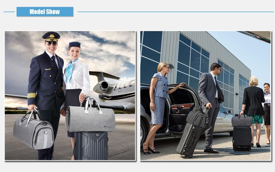 Modoker New Travel Bag Shoulder Strap Duffel Bag Business Fashion Carry on Hanging Clothing Multiple Pockets high quality