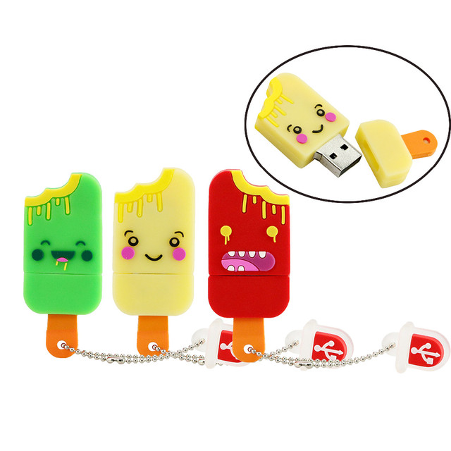 New Style Magnum Ice Cream USB Memory Stick 4GB 8GB 16GB 32GB 64GB Flash Drive Pen Drive USB 2.0 Flash Disk Gifts wholesale