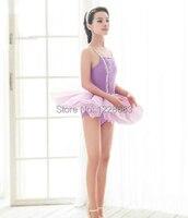 Free Shipping Yellow Blue Lavender White Girl Ballet Dress Ballerina Dress Kids Professional Rehearsal Tutu