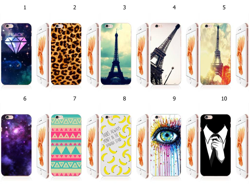hybrid retail 10designs 1PC cartoon retro fashion style white hard mobile phone cases cover for iphone 6 6s 4.7inch free ship