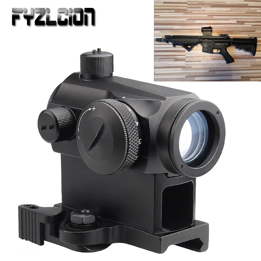 Tactical Mini 1X24 Rifescope Sight Illuminated Red/ Green Quick Release Red Dot Scope Mount For Airgun Air Rifle Hunting Snipe