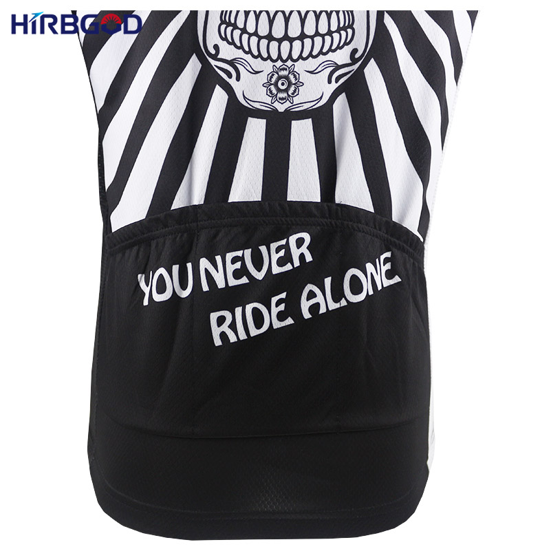 HIRBGOD Flower Skull Print Mens Cycling Jersey Short Sleeve Summer You  Never Ride Alone Bike Shirt Clothing Shirt maillot HK044-in Cycling Jerseys  from ... 5933ce728
