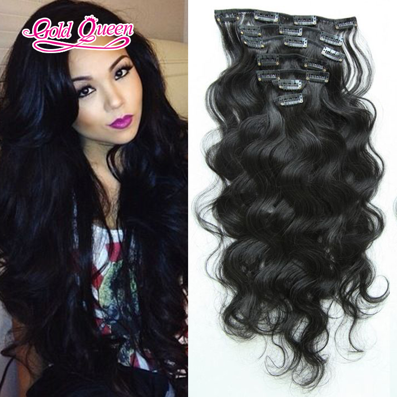 Fashion brazilian body wave clip in human hair extensions 7pcsset fashion brazilian body wave clip in human hair extensions 7pcsset brazilian hair clip in extensions 8 26inch natural black on aliexpress alibaba pmusecretfo Images