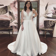 LAYOUT NICEB SHJ811 Sleeveless A-line Wedding Dress V-neck