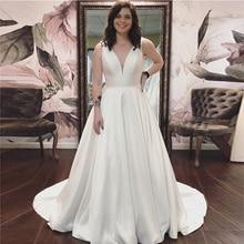 LAYOUT NICEB SHJ811 Sleeveless A-line Wedding Dress V-neck