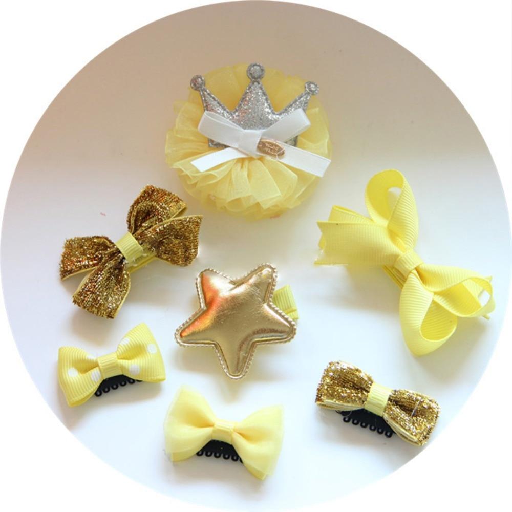 Мода, сладкий и прекрасный детская бабочка серии заколки 7 небольшие подарки для детей