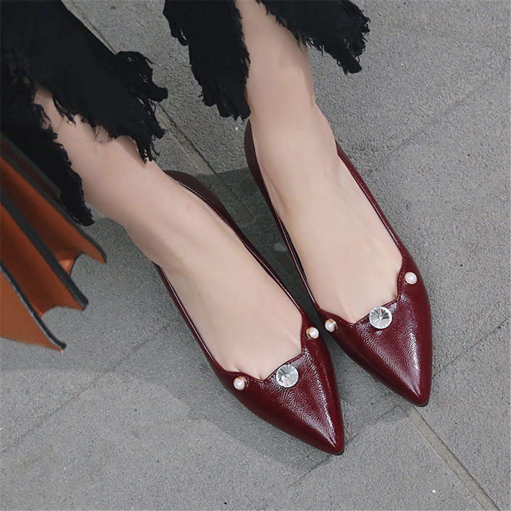 ca5cdd69 Zapatos de tacón alto talla 33 para mujer con punta puntiaguda con ...