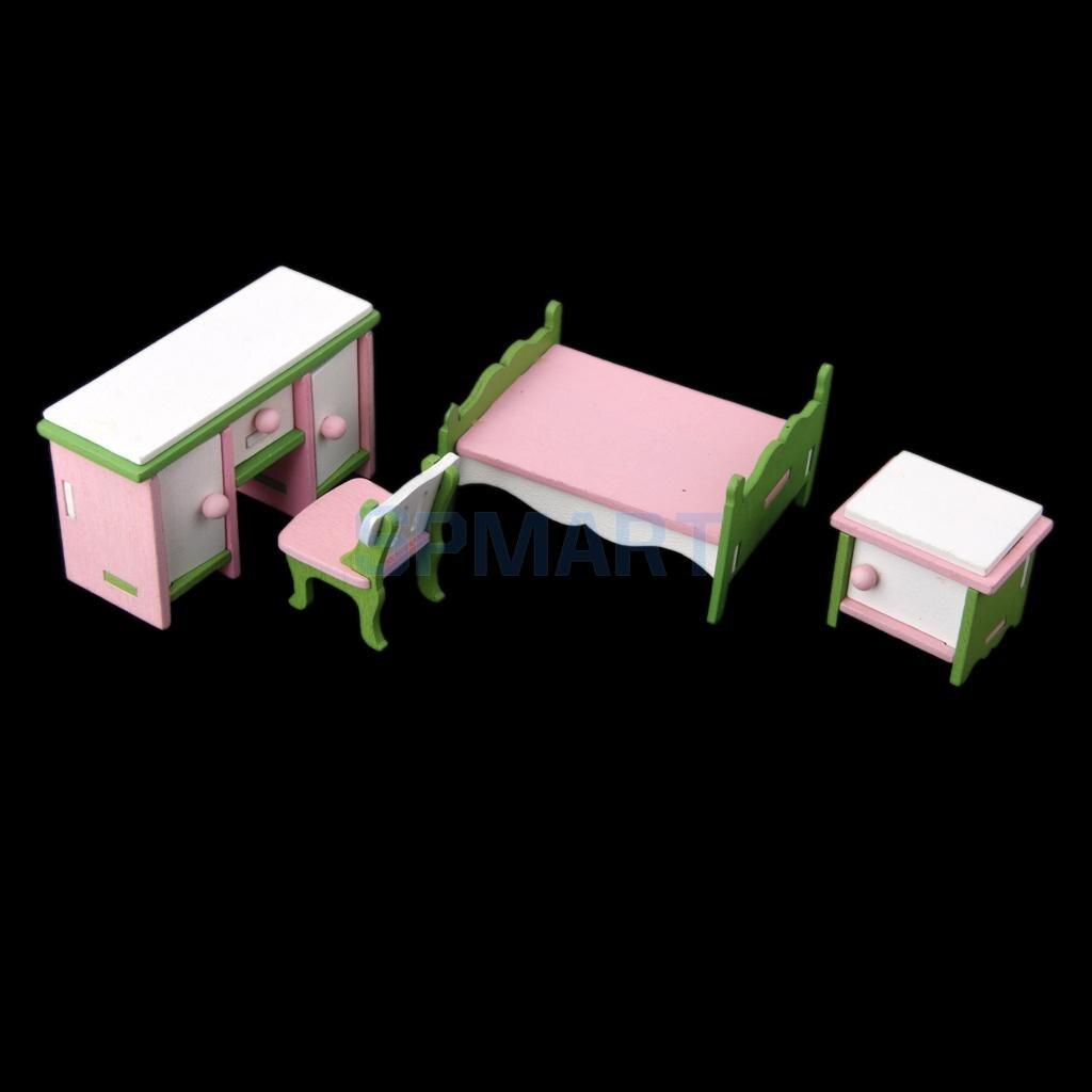 Miniature Dollhouse Bedroom Furniture Dollhouse Bedroom Set Promotion Shop For Promotional Dollhouse