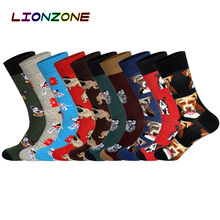 Hot Brand Men Socks with Funny 10 Colors 3D Pet Dogs Pugs Hounds Wedding Gift Streetwear