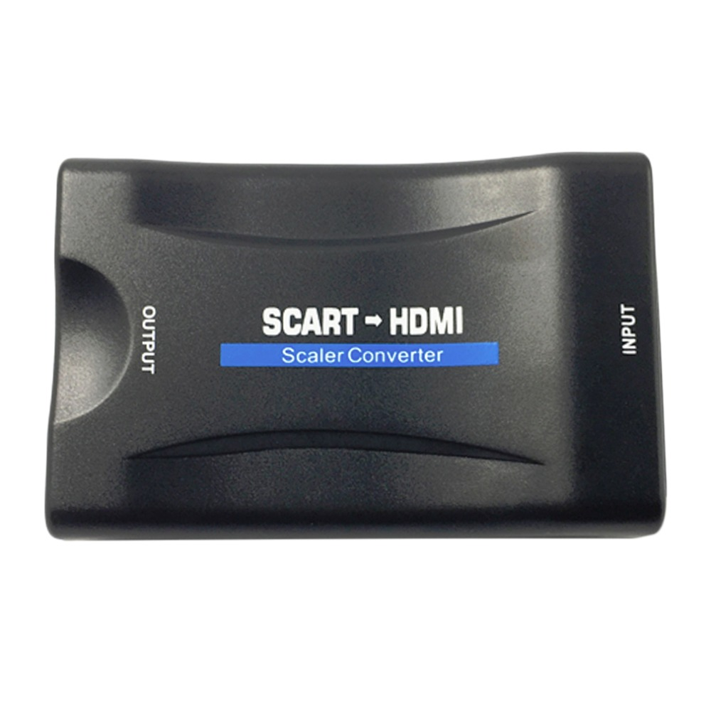 1080P SCART To HDMI Video Audio Upscale Converter Adapter for HD TV DVD for Sky Box STB Plug and Play with DC cable ...