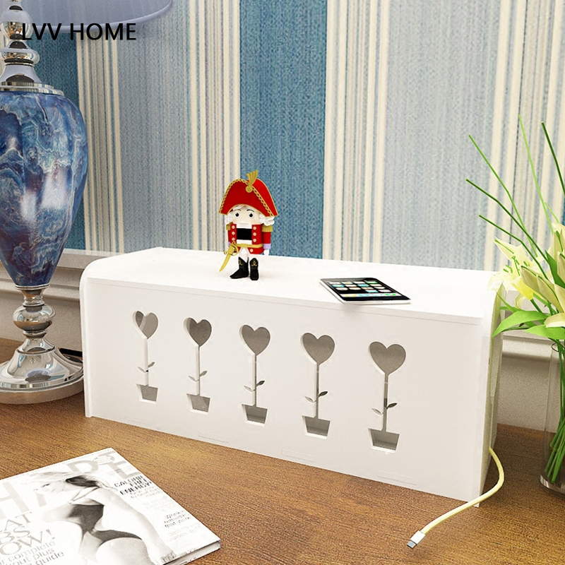 LVV HOME power cord socket storage box/hollow out omputer line ...