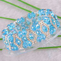 "Free Shipping New without tags Fashion Jewelry Sky blue Faceted Beads Stretch Crystal Bracelet 7""  1Pcs RH697"