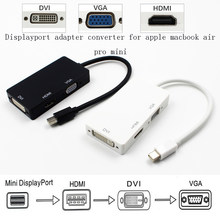 3 In 1 Mini Dp DisplayPort untuk HDMI/DVI/VGA Multifungsi Converter Display Port Kabel Adaptor untuk Apple macbook Kabel Digital(China)