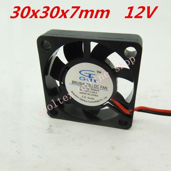 10pcs lot 30x30x7mm 3007 mini fan 12 volt brushless dc. Black Bedroom Furniture Sets. Home Design Ideas