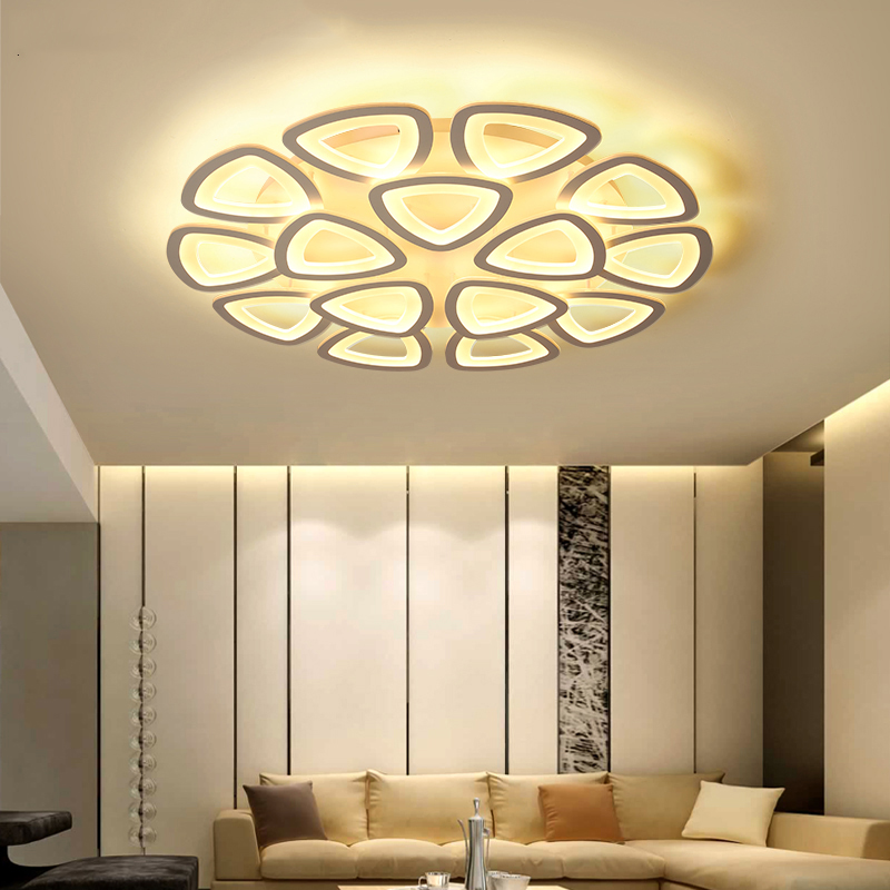 Surface Mounted White Acrylic Modern Led Ceiling Lights For Living Bedroom Fixtures Indoor Home Dec home Ceiling Lamp AC110-260V surface mounted ceiling lights for living study room bedroom home dec plafonnier ac90 260v modern remote control lamp home decor