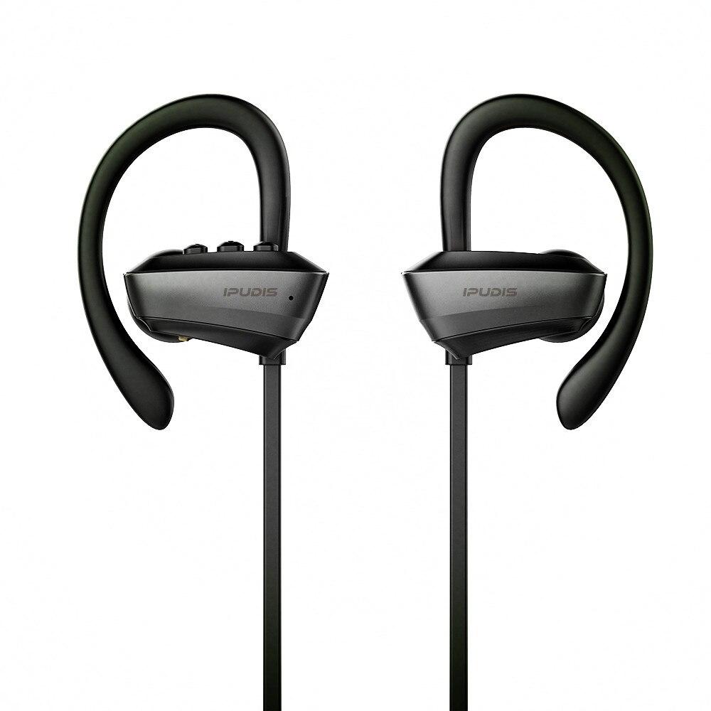 IPUDIS IPX7 Impermeabile Auricolare Stereo Senza Fili di Bluetooth di Sport Della Cuffia Auricolare del Gancio Dell'orecchio con il Microfono