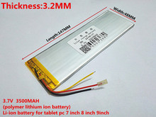 New 3 Wires 3248147 Battery For Tablet inner 3500mah Battery Exchange Batteries DIY Parts Polymer li-ion Replacement