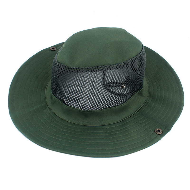 Outdoors Breathable Sun Hat Wide Brim Fishing Hunting Hiking Cap for Men Women
