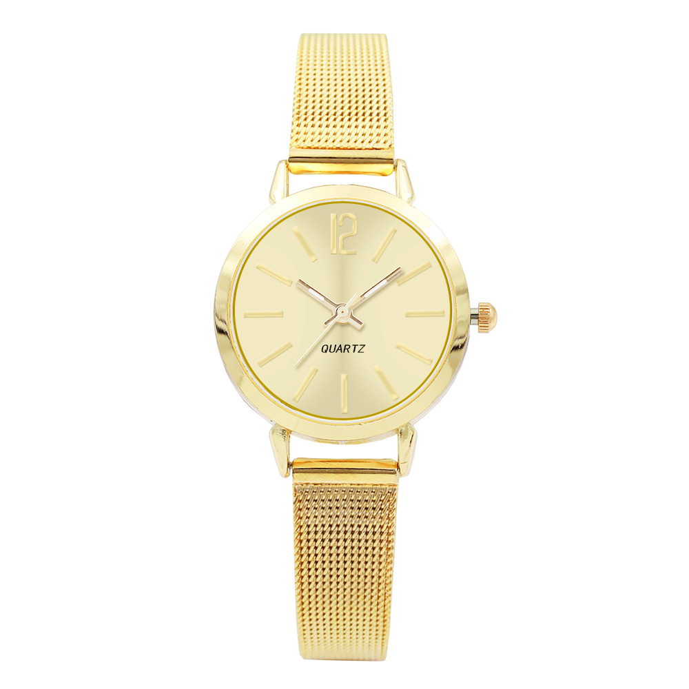 Drop Shipping Womens Fashion Classic Quartz Stainless Steel Wrist Watch Montre Femme 2018 Luxe Quartz