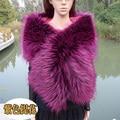 Высочайшее качество искусственного енот мех лисы шаль многоцветный customerized цвет и размер шарф невесты свадебное партии cosplay искусственного меха шарф мыс