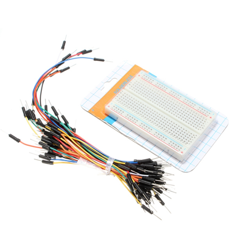 Hot DIY 400 Points Solderless Bread Board PCB Electronic Deck Test Board + 65pcs Breadboard Cable Jump Wire For Arduino Shield