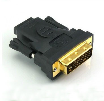 DVI(24+1) male to HDMI female converter adapter gold plated support Ver.1.4 720P 1080I 1080P for video card connect to monitor