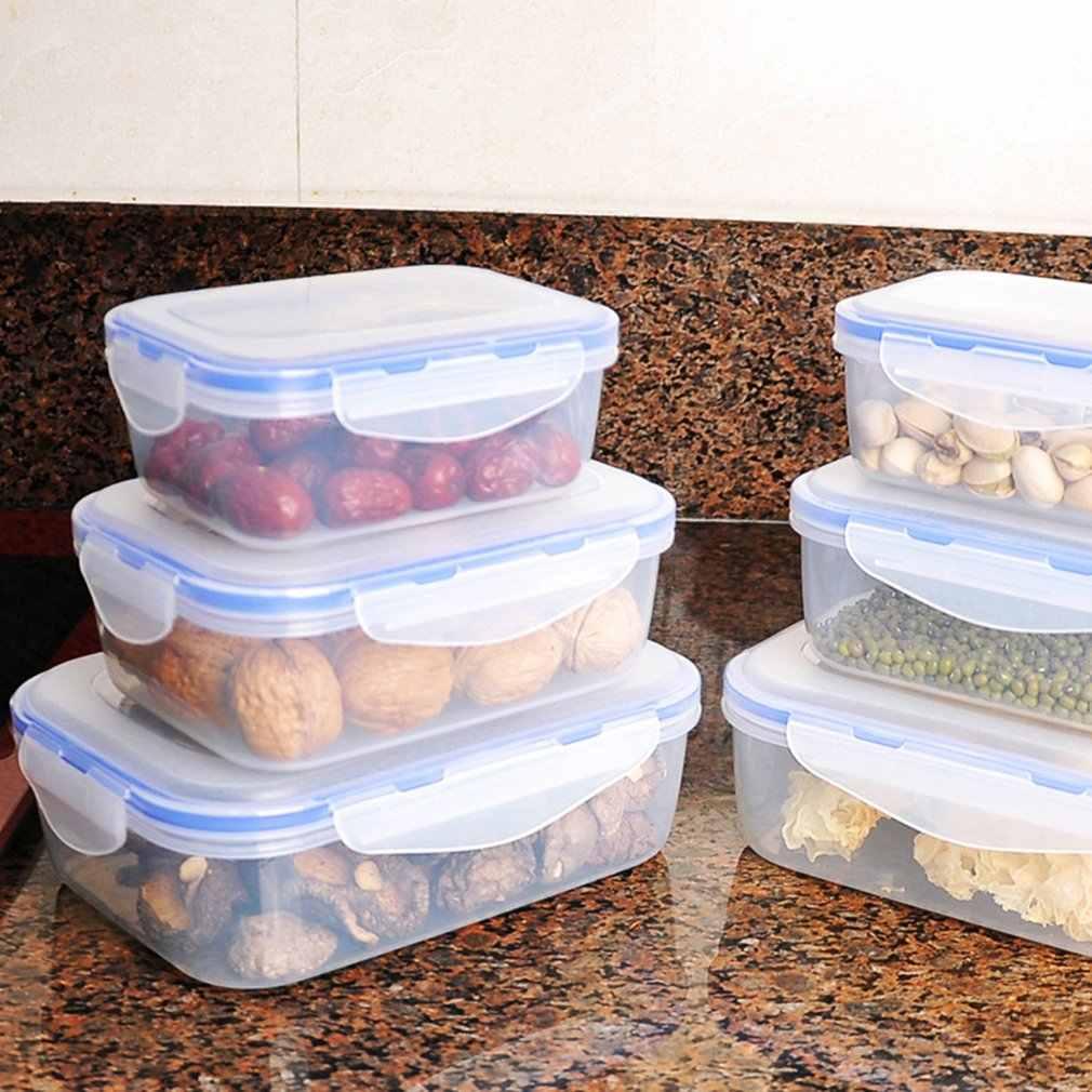 المطبخ صندوق تخزين من البلاستيك علب الاغذية مستطيلة الميكروويف الثلاجة الغذاء تخزين صندوق معزول