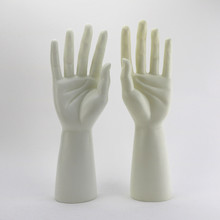 One Pair PE Male Mannequin Hand, Realistic W Manikin Dummy Hands For Gloves Display