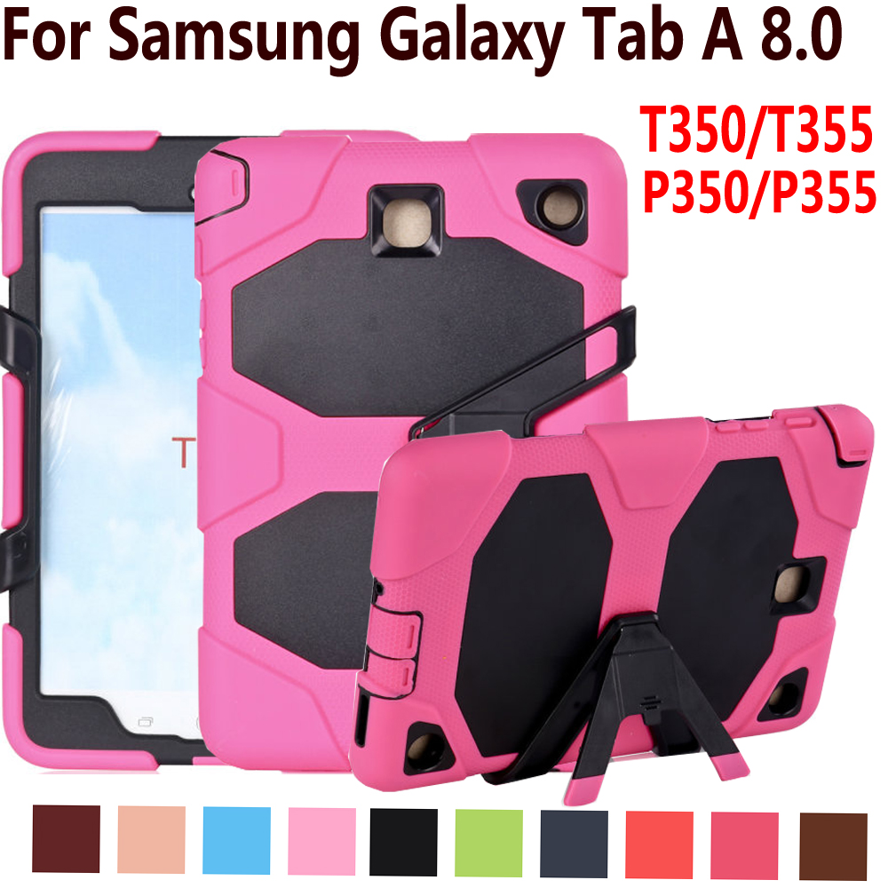 Armor Case For Samsung Galaxy Tab A 8.0 T350 T355 P350 P355 Cover Silicone Heavy Duty Kid Safe Tablet Case For Samsung Tab A 8.0 luxury tablet case cover for samsung galaxy tab a 8 0 t350 t355 sm t355 pu leather flip case wallet card stand cover with holder