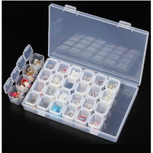 Adjustable 28 Grids Compartment Storage Box Jewelry Screw case Organizer Nail Art