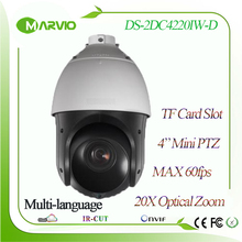 Hikvision 4″ mini New H.265 1080P FULL 20X Optical zoom IP PTZ Network Camera DS-2DC4220IW-D Outdoor IP66 replace DS-2DE4220IW-D
