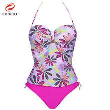 hot sale fashion women beachwear two-pieces panty tankini set floral print swimwear panties