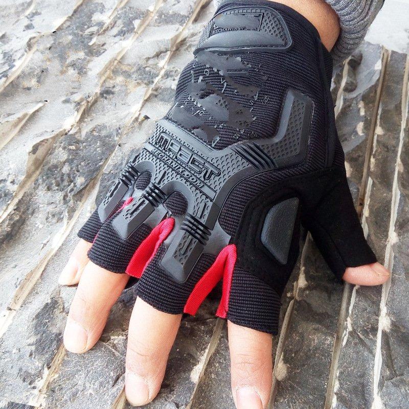 Super technician outdoor anti - cut anti - skid sun protection seal gloves gloves black pc technician street smarts
