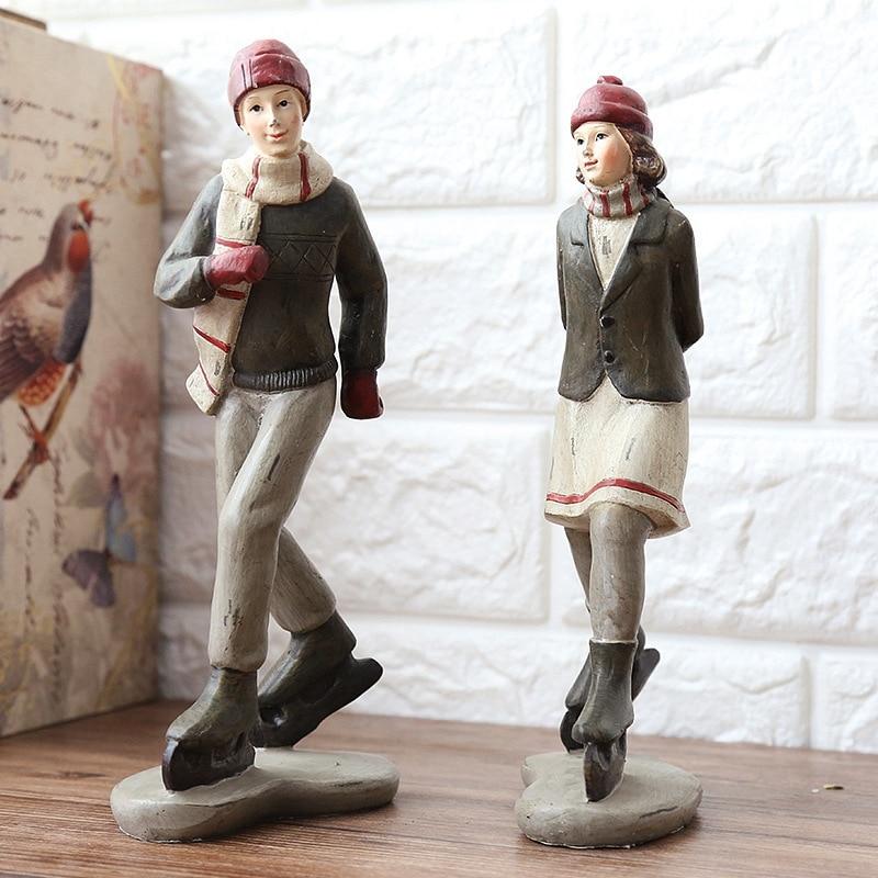 Skiing Couple Ornament