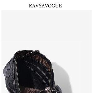 Image 5 - KAVYAVOGUE חדש כבש ארנק נשים מטבעות ארנק קטן ארנק נשים 2020 עור אמיתי תיק מפתח ארגונית