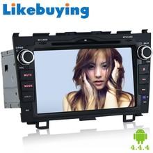 8Inch Likebuying 1024*600 Quad Core Car DVD For Honda CRV 2008-2011 2 Din Android 4.4.4 GPS Navigation Auto Radio BT Automotivo