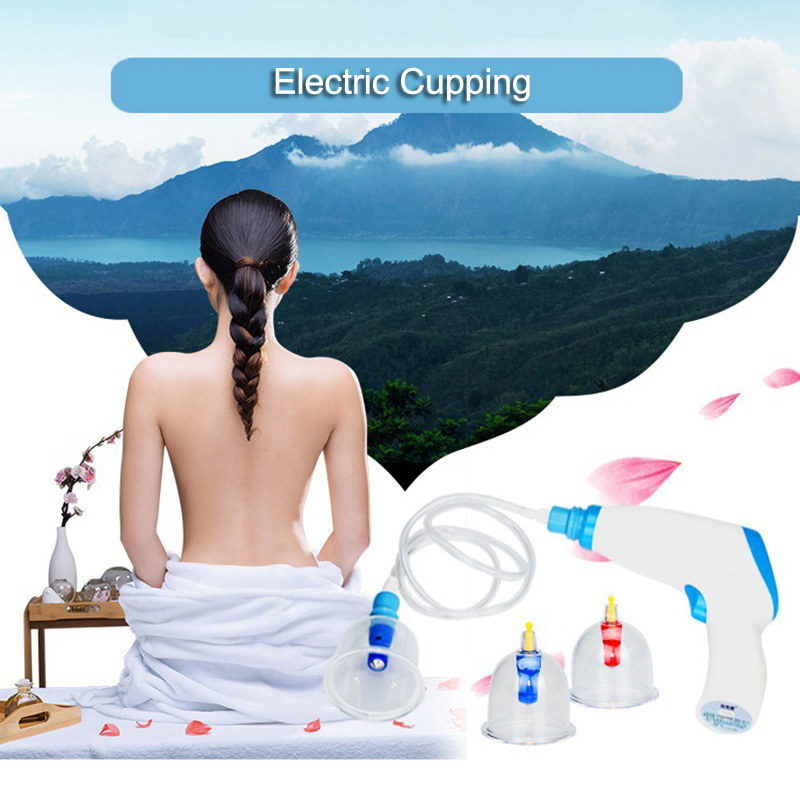 Drainage Electric Massage Vacuum-Suction-Cupping-Set Lymph Pain-Relief Hot