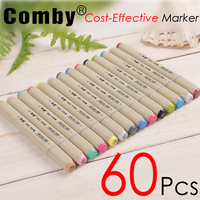 60 P Colors Self Selection Set Comby 802 Marker Pen Commonly Used Sketch Marker Copic Markers