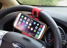 2015 New Universal Car Steering Wheel Mount Holder for Mobile Phone A pple iPhone 4 4S