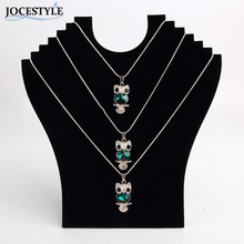 New Arrival High Quality Hot Necklace Bust Jewelry Pendant Chain Display Holder Stand Neck Easel Showcase Black Color