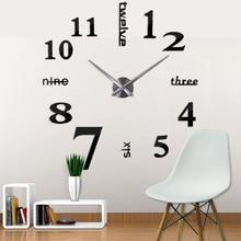 Abstract Big Acrylic Mirror Modern Design Wall Clock Acrylic+Eva 9mm sheet Decorative Clocks Unique Gift Digital Watch