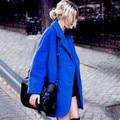 Новая Зимняя Женщина OL Шерстяные Пальто Кашемировые Пальто Женщин Двубортный Теплое Пальто
