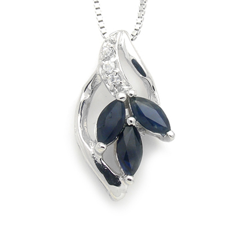 Collier Collares Qi Xuan_Dark Blue Stone Flower Pendant Necklace_Real Necklace_Quality Guaranteed_Manufacturer Directly Sales Collier Collares Qi Xuan_Dark Blue Stone Flower Pendant Necklace_Real Necklace_Quality Guaranteed_Manufacturer Directly Sales