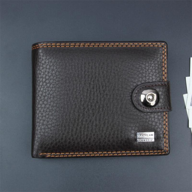 Black PU Leather Small Men Wallet Vintage Mini Male Wallets Short Male Hasp Coin Purse Credit Card Holder Purses Money Bag