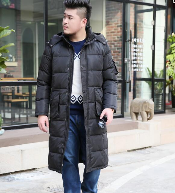 Size S-10XL Long Men's Duck   Down     Coat   Winter Long 90%   Down   Jacket   Coat   Hooded Men   Down   Jacket 2018 NEW Fashion